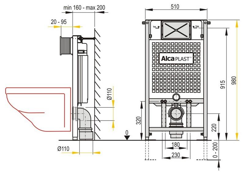 alca wc vorwandelement a101 anapont. Black Bedroom Furniture Sets. Home Design Ideas